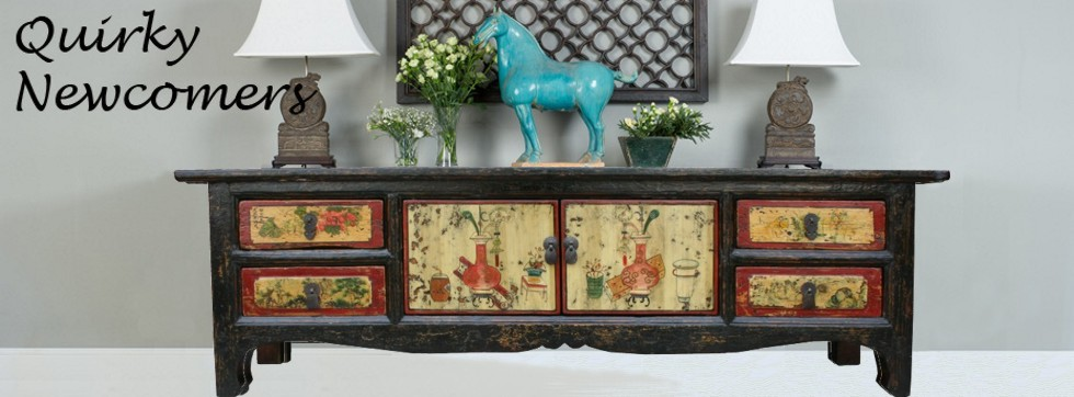 Mongolian Chinese Sideboard TV Cabinet